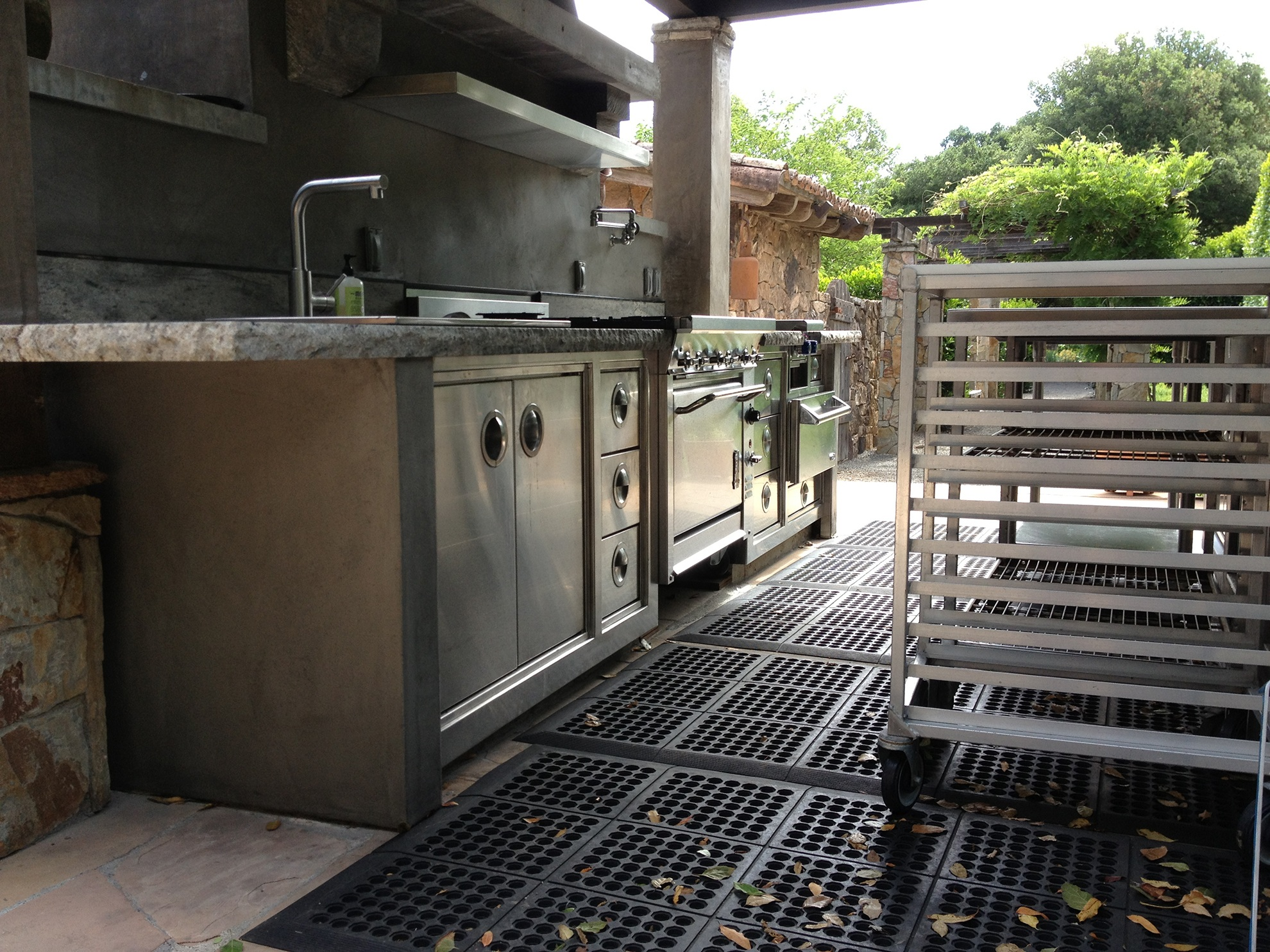 Outdoor Metal Cooking Station