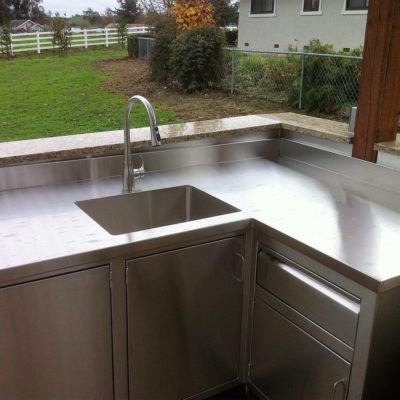 Metal Sink Corner View